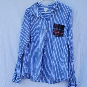Jcrew perfect fit blue collar shirt xxl